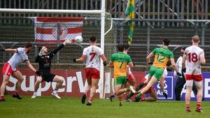 Michael Langan scores Donegal's goal