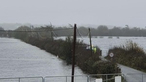 The Clonown road out of Athlone has been closed after heavy flooding