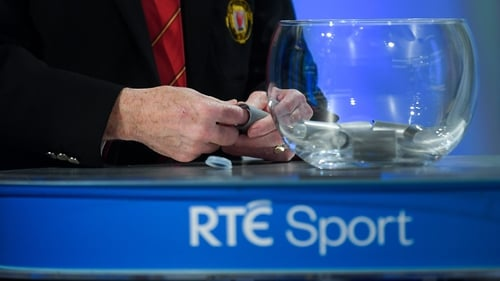 The draw will be live on RTÉ's Morning Ireland on Monday