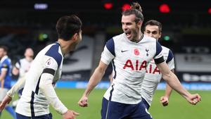 Gareth Bales celebrates the winning goal