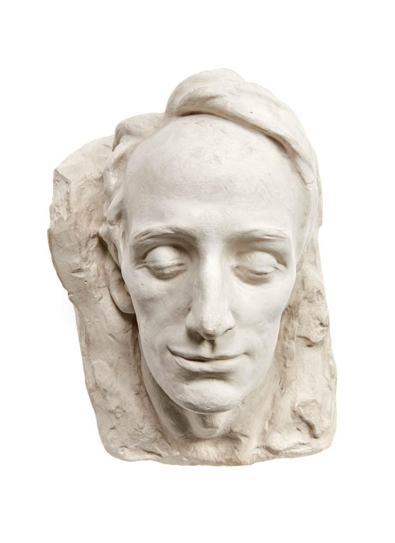 Image - Terence McSwiney life mask, plaster. Image courtesy of the National Museum of Ireland HE:EW.793