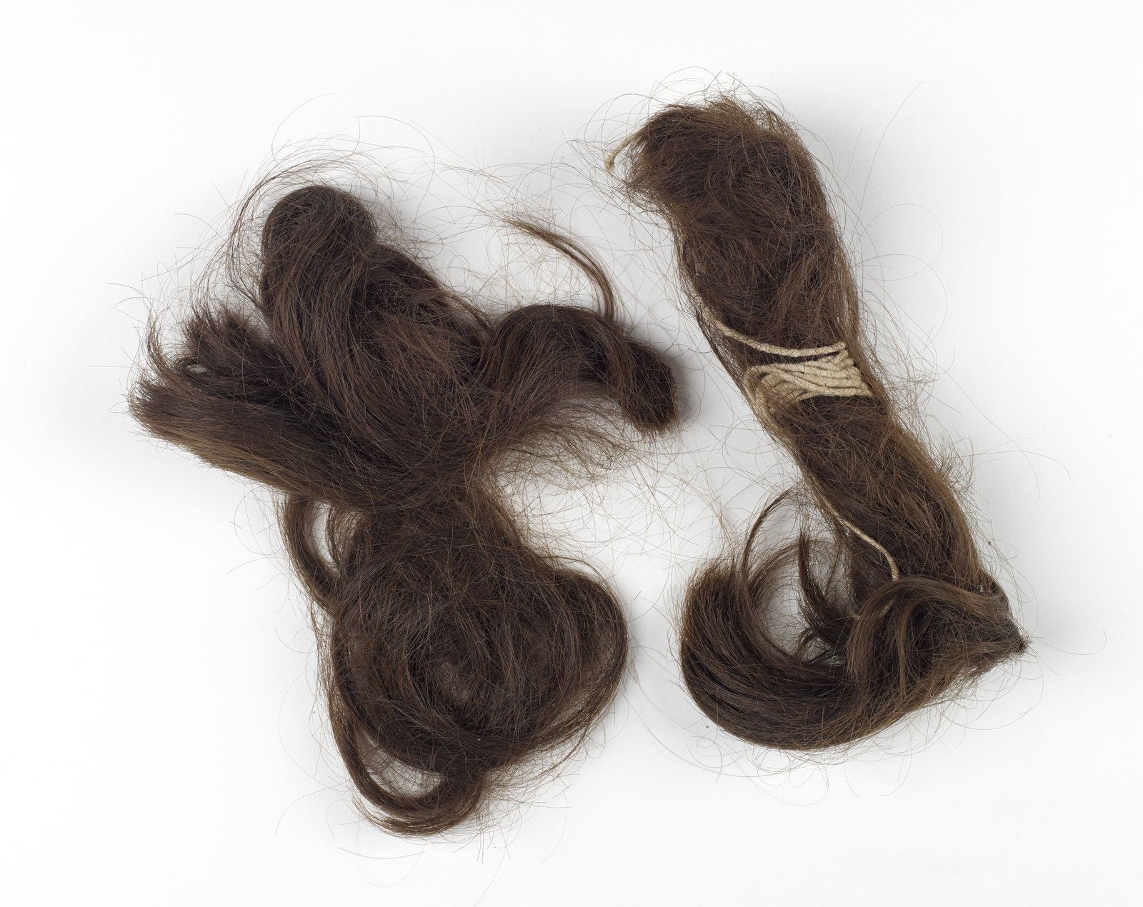 Image - Hair shorn by the IRA during the War of Independence, with letter to Mrs Barry. Image courtesy of the National Museum of Ireland