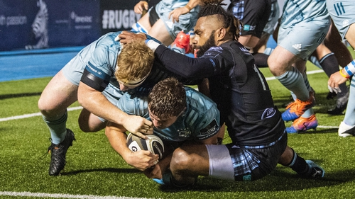 Scott Penny scored Leinster's third try in Glasgow