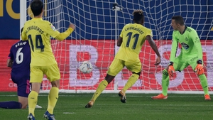 Samuel Chukwueze gives Villarreal the lead against Real Valladolid
