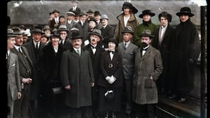Treaty signatories at Holyhead (1921), colourised by Matt Loughrey