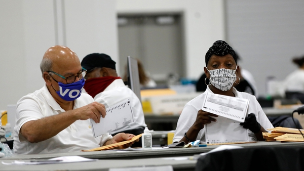 Counting of votes continues in at least five key 'battleground' states
