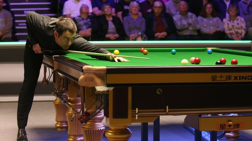 Ronnie O'Sullivan pictured at the 2019 UK Championship at the York Barbican.