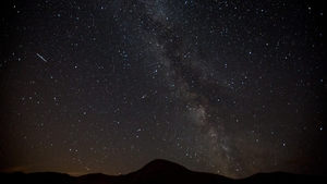 A view of the Milky Way and Perseid meteors over Croagh Patrick in Co Mayo (file pic)