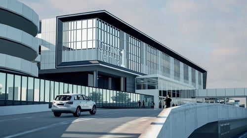 An artist's description of the revamped Terminal 1 at Dublin Airport