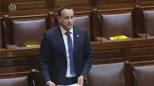 Leo Varadkar speaking in the Dáil on Tuesday