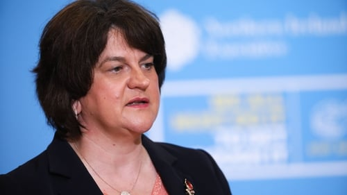 Arlene Foster said she will raise the tweet with the Ceann Comhairle