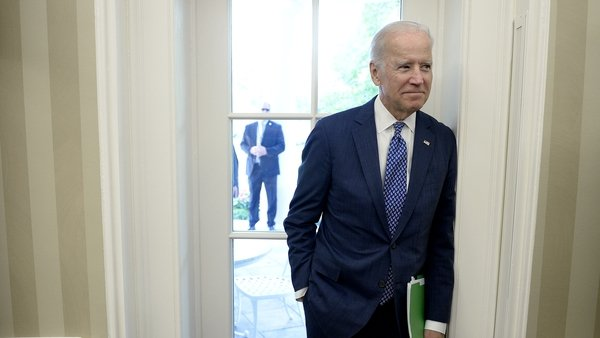 Those curtains will have to go: Joe Biden in the Oval Office in 2015