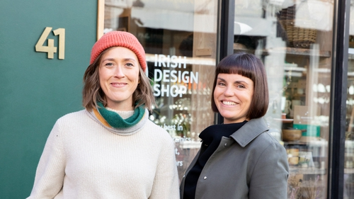 Laura Caffrey and Clare Grennan, owners of Irish Design Shop