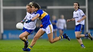 Monaghan's Eimear McAnespie in action against Laura Dillon of Tipperary