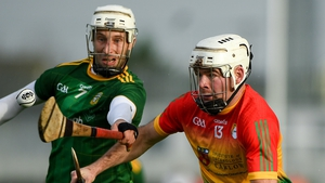 Marty Kavanagh of Carlow in action against Keith Keoghan of Meath
