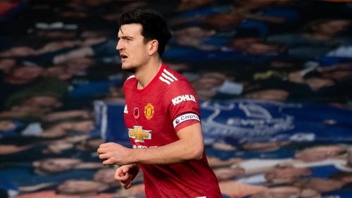 Maguire in action at Goodison Park
