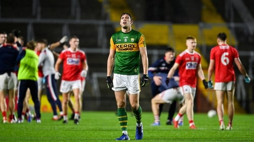 Kerry's David Moran cuts a dejected figure at the final whistle