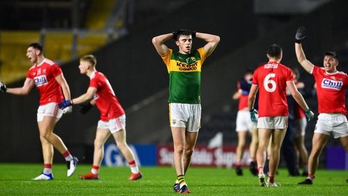 A dejected Seán O'Shea after Kerry's loss