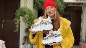 Barbara Bennett customises shoes with her hand-painted designs