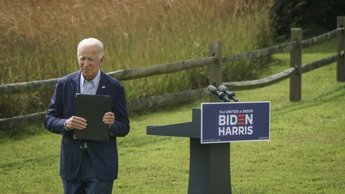 """""""Joe Biden has likened the opportunity for climate action to the Apollo lunar programs of the President Kennedy era"""". Photo: Getty Images"""