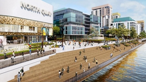 The multi-million euro regeneration of the site includes office, commercial, leisure and residential elements