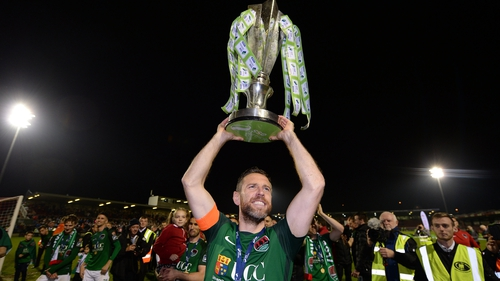 Bennett captained Cork City to the Double in 2017