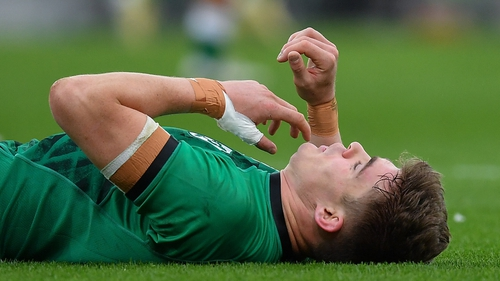 Ringrose had his jaw broken against Italy