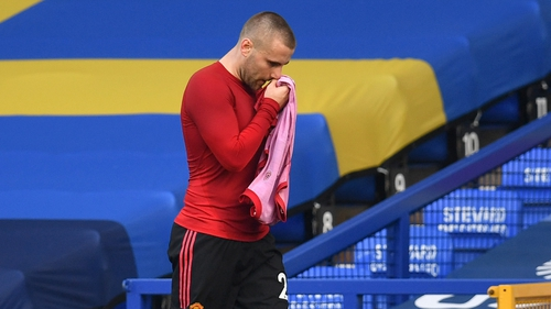 Luke Shaw suffered the injury during the win against Everton