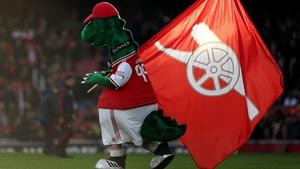 Arsenal mascot Gunnersaurus is back