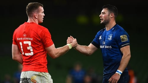 Chris Farrell, left, and Robbie Henshaw will form the Irish midfield partnership against Wales