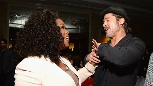 Oprah Winfrey and Brad Pitt (pictured at an event in Beverly Hills in January 2015) - Bringing bestseller to big screen
