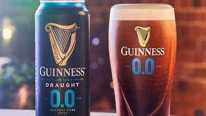 The Guinness non-alcoholic stout was not on sale to the public here yet