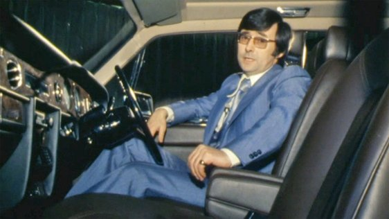 Colm Connolly in the Rolls Royce 'Silver Spirit' (1980)