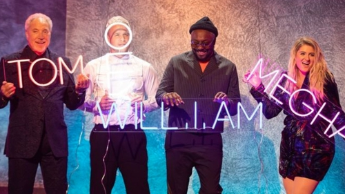 The Voice UK coaches: Tom Jones, Olly Murs, Will.i.am and Meghan Trainor