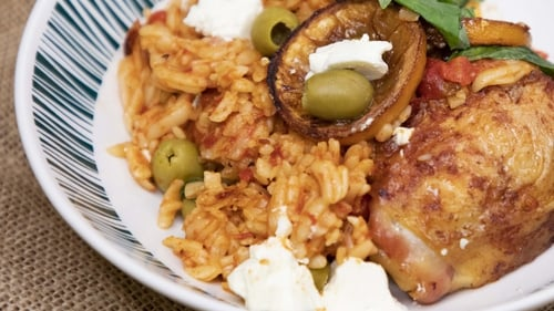 One-pot paprika chicken with orzo