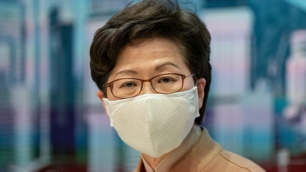 Carrie Lam was targeted in the toughest US action on Hong Kong since China imposed the new law on the territory in late June
