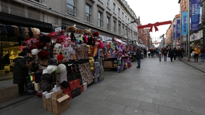The city council had announced a prohibition for the seasonal traders on Henry Street and Moore Street because of Covid-19 restrictions (Pic: RollingNews.ie)