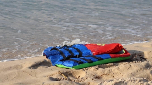 A lifejacket washed up on the Libyan coast (Pic: Hussein Ben Mosa/IOM 2020)