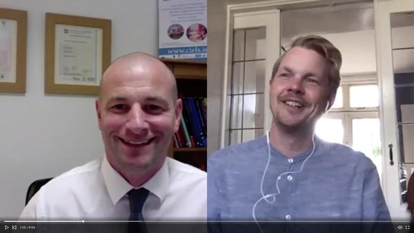 Danny Barron teaching online with Erik Janssen in The Netherlands.