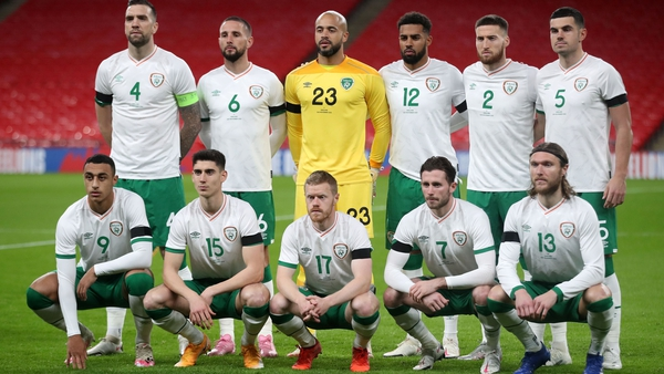 The Irish team that started at Wembley