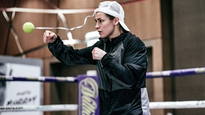 Katie Taylor trains ahead of her bout with Miriam Gutierrez