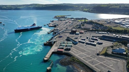 """Larne port: """"consumers in Northern Ireland may not be as badly affected by Brexit as often thought"""""""