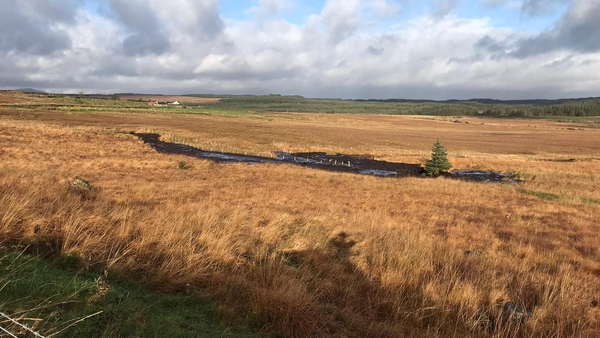 The peat slippagehappened near Meenbog Wind Farm, south of Ballybofey