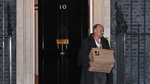 Dominic Cummings seen leaving Number 10 this evening
