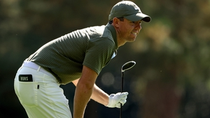 Rory McIlroy matched the lowest score of the day at Augusta