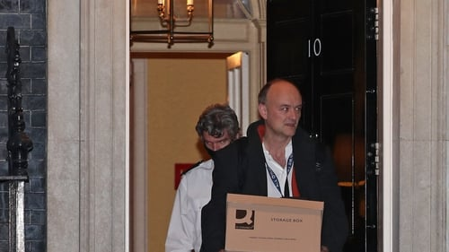 Former Brexit secretary David Davis said Dominic Cummings' exit from Downing Street holding a cardboard box was 'entirely deliberate'
