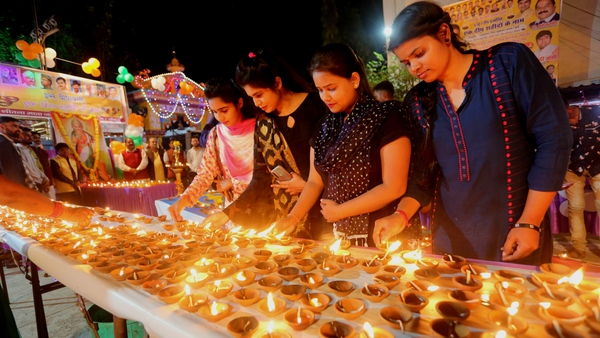 Celebrating the Festival of Light in Bhopal, India