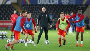 Wales assistant manager Robert Page takes charge of the team for the clash with Ireland