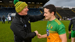 Donegal manager Declan Bonner and Eoin McHugh