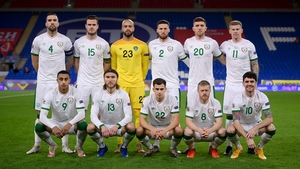 The Ireland team which started against Wales